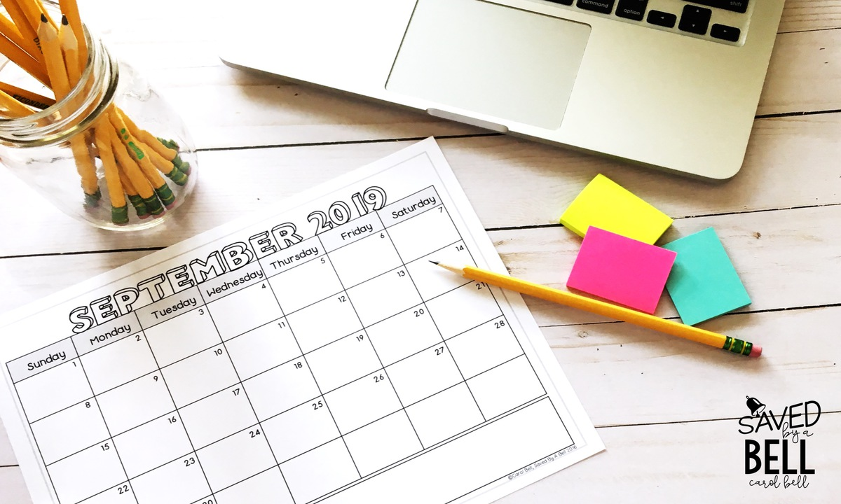 Editable calendars make life in the classroom easier and kids more independent