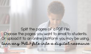 How to split the pages in a PDF file